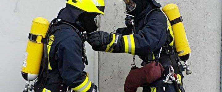 Ausbildung im Brandübungshaus