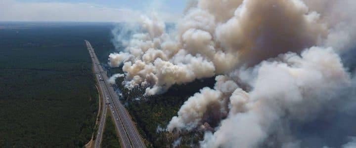 Waldbrand bei Fichtenwalde (26./27.07.18)