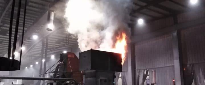 Einsatz 13/2018 (28.08.18): Brand Gebäude-Groß – brennt Lüftunganlage in Werkshalle